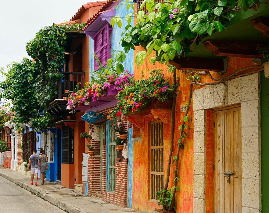 Houses in Cartegena, Colombia