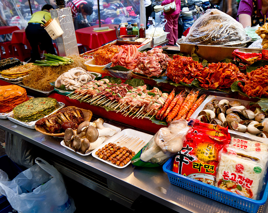 Namdaemun street food market, South Korea