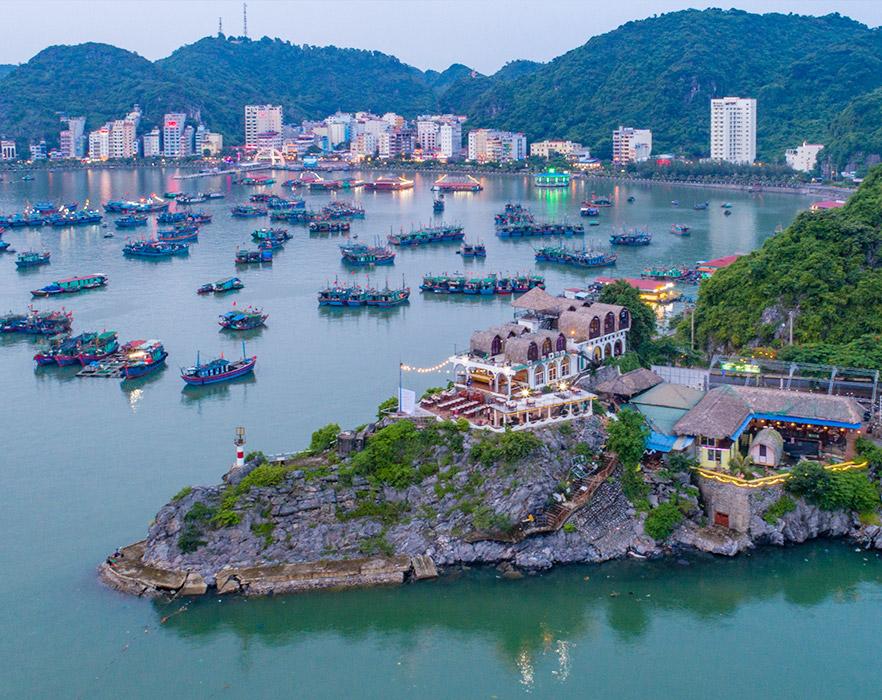 Cat Ba island from above, Hai Phong, Vietnam