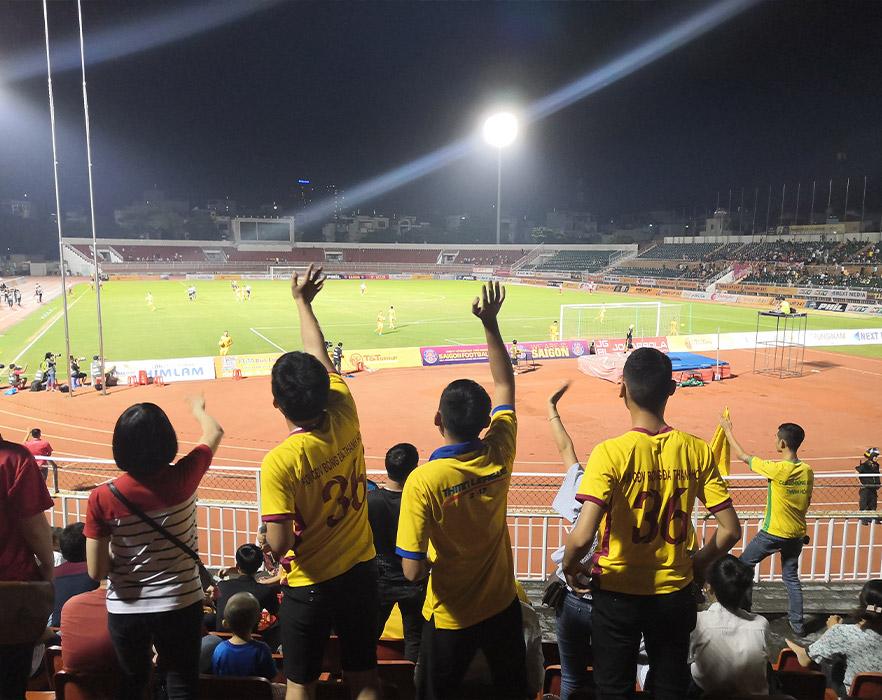 Football game in Vietnam