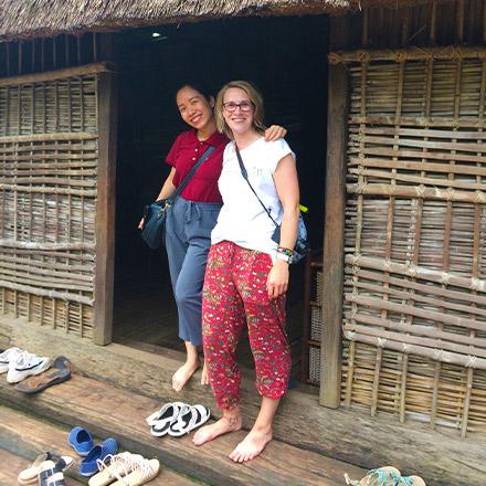 Georgina and friend, Vietnam