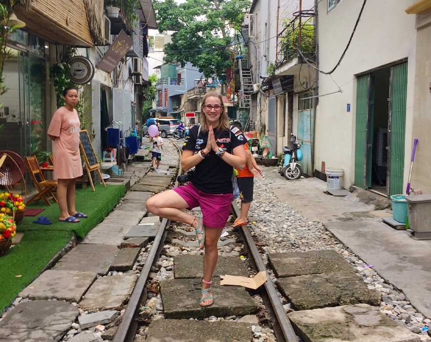 Georgina on Train Street, Hanoi
