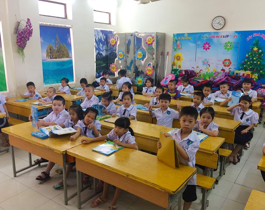 Grade 1 class, Hai Phong, Vietnam