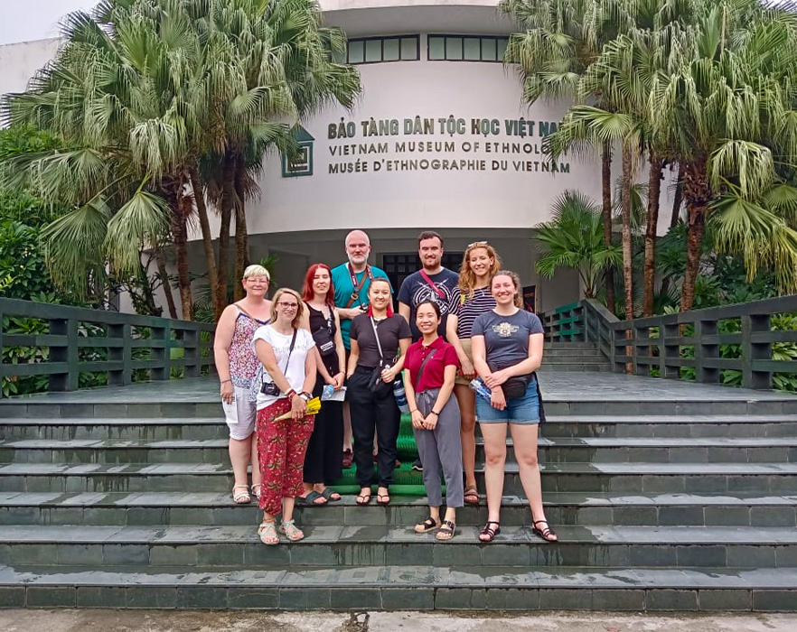 Interns outside Vietnam, Museum of Ethnology