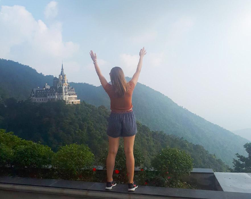 Kate travelling around Vietnam