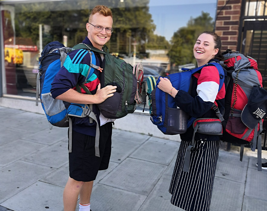 Mitch and his girlfriend about to embark on TEFL internship