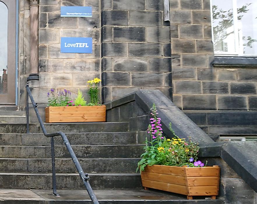 Outdoor garden boxes
