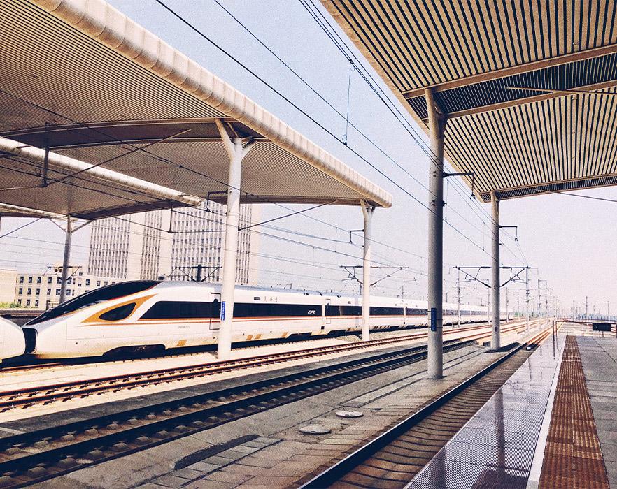 Train station, Shandong, China