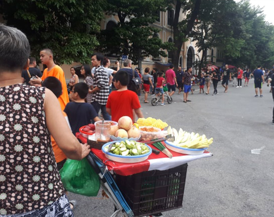Vegan street food vendor in Hanoi