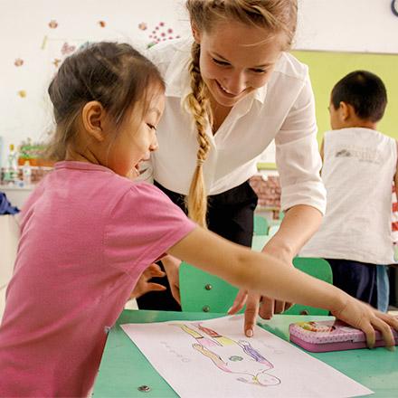 TEFL teacher with Chinese student - China