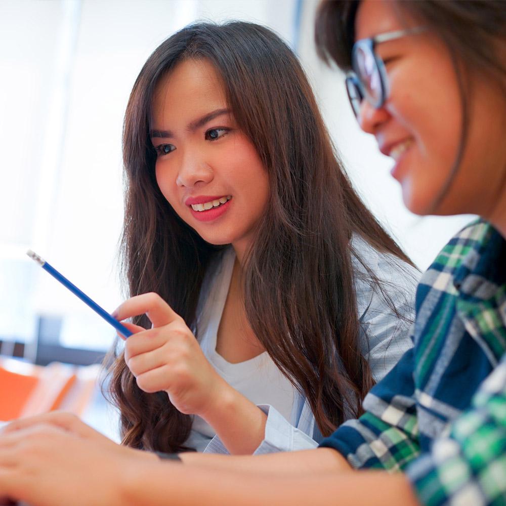 ESL Students learning English