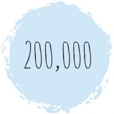 200,000 students icon