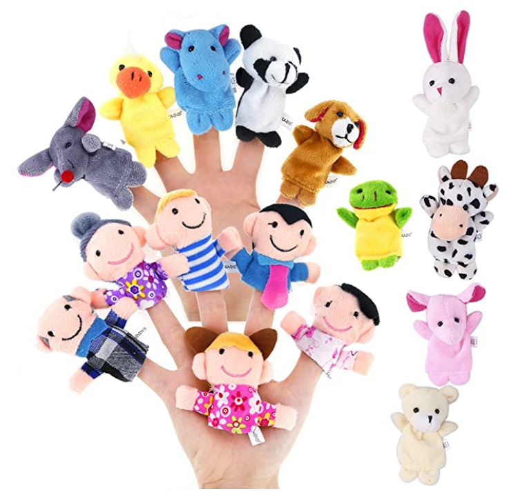 finger puppets to use in teaching online lessons