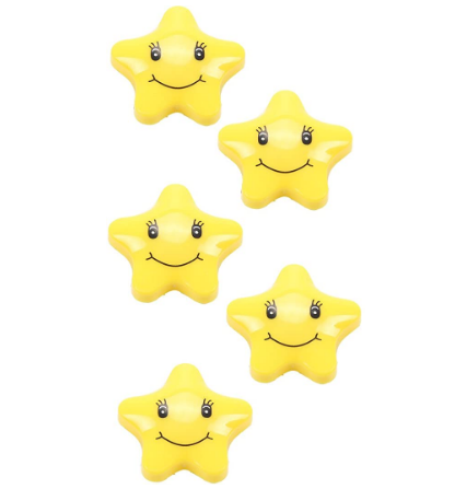 magnetic stars with smiley face