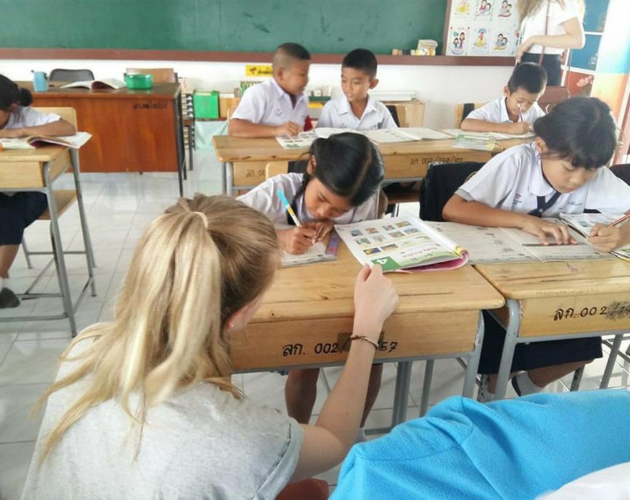 TEFL teacher in classroom