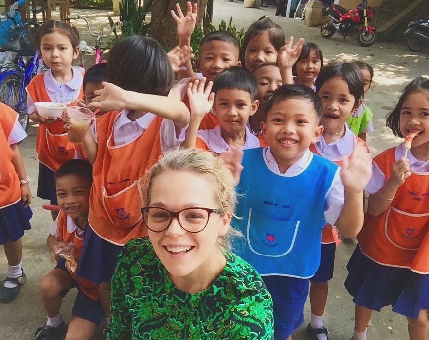 TEFL teacher with Thai students