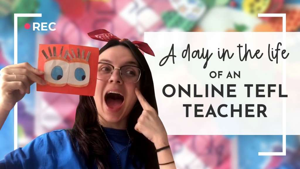 girl teaching english online video thumbnail