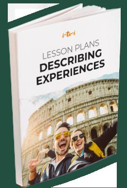 describing experiences lesson plan ebook mockup