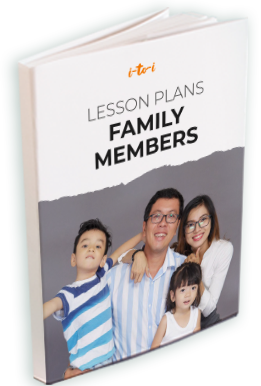 family members lesson plan ebook mockup
