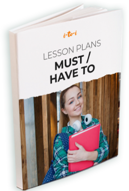 must/ have to lesson plan brochure mockup