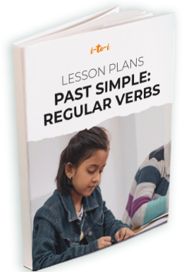 past simple regular verbs ebook mockup