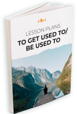 to get used to / be used to lesson plan ebook mockup