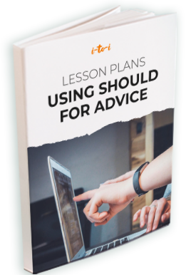 should for asking advice lesson plan ebook mockup