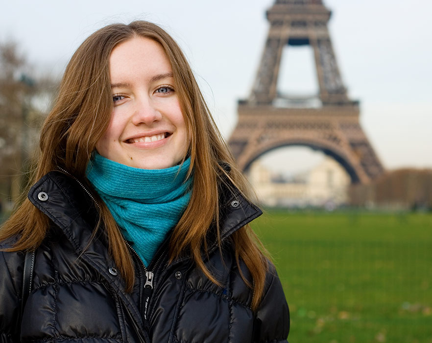 Girl teaching in Europe after completing a TEFL certification