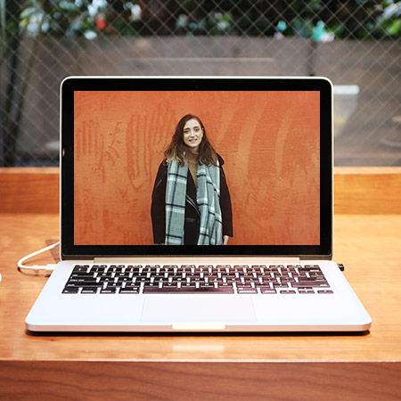 Aileen doing a webinar about teaching English in Asia