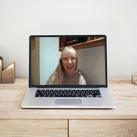 women using laptop to tefl online