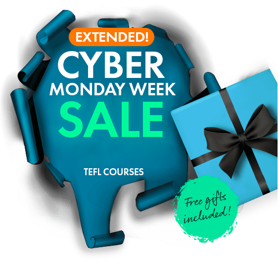 CYBER MONDAY WEEK SALE ON TEFL COURSES
