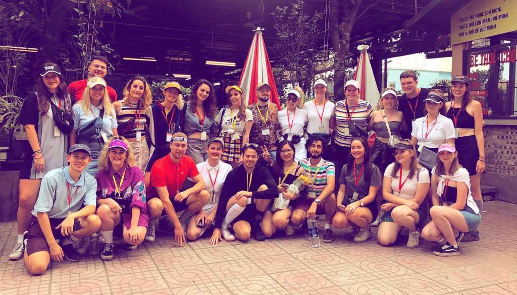 Molly and friends on TEFL Vietnam Internship