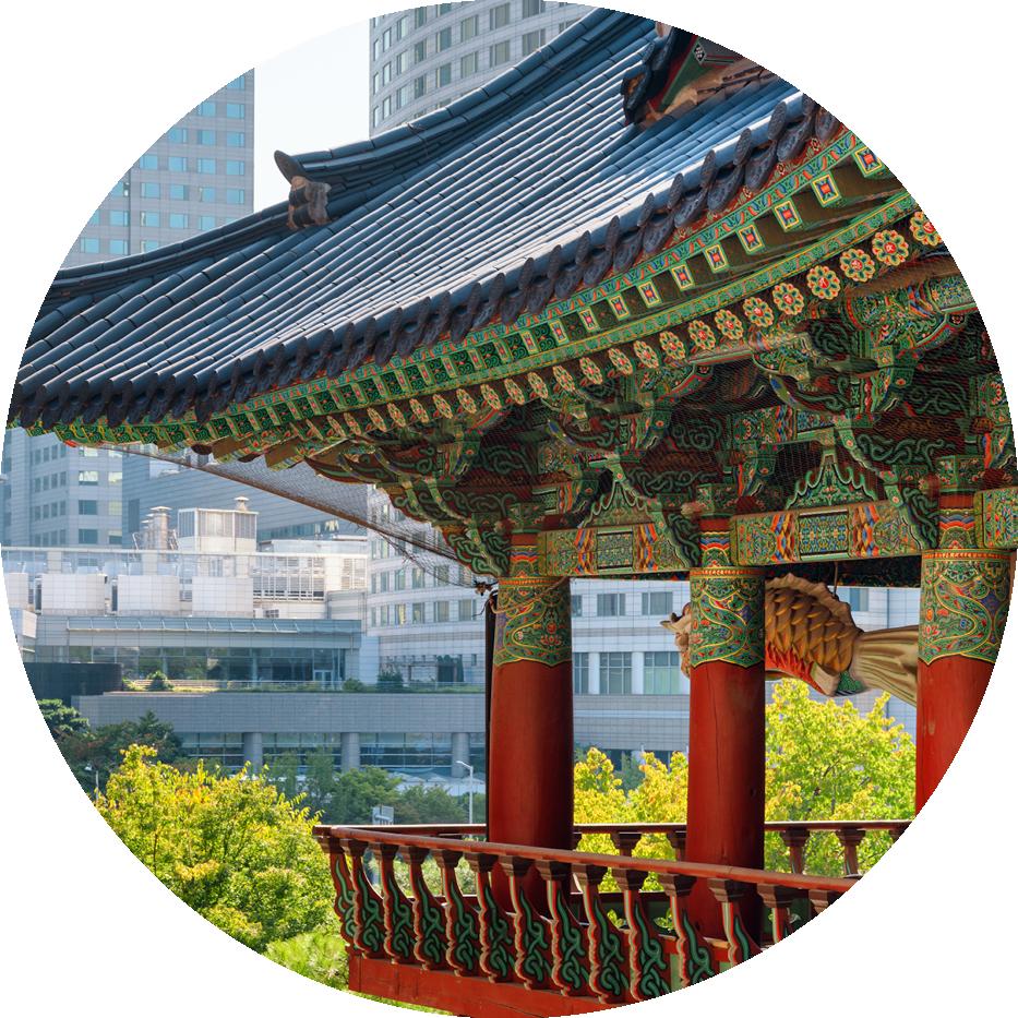 South korean building
