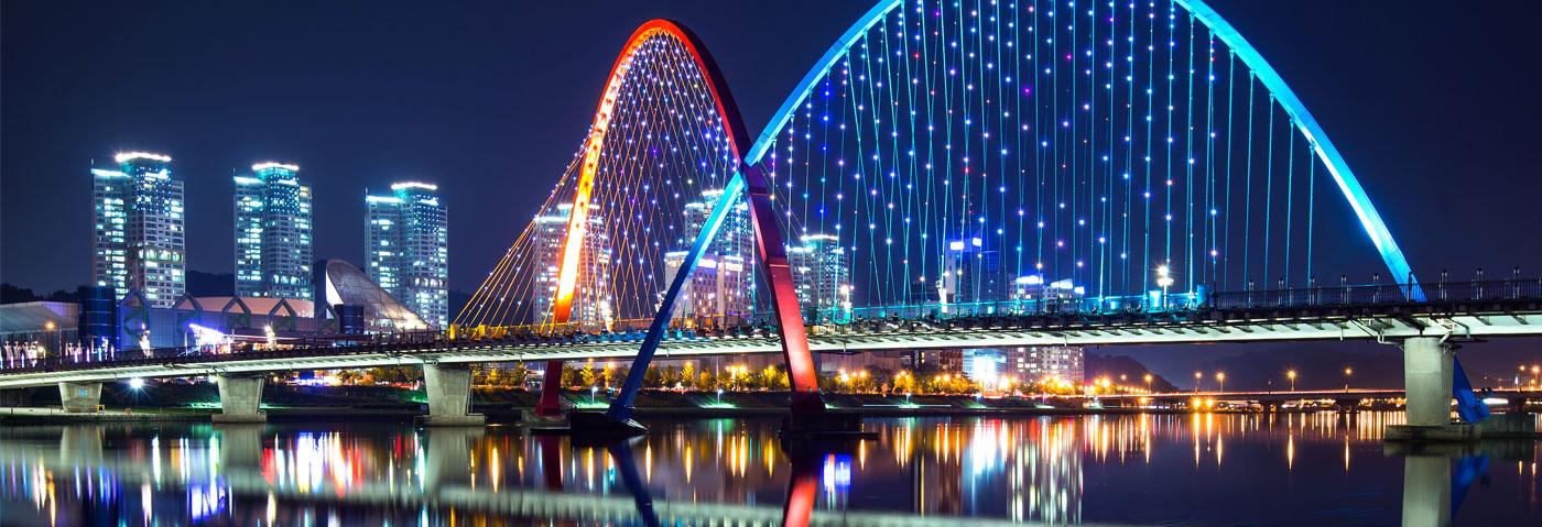 South Korea Deajoean city skyline
