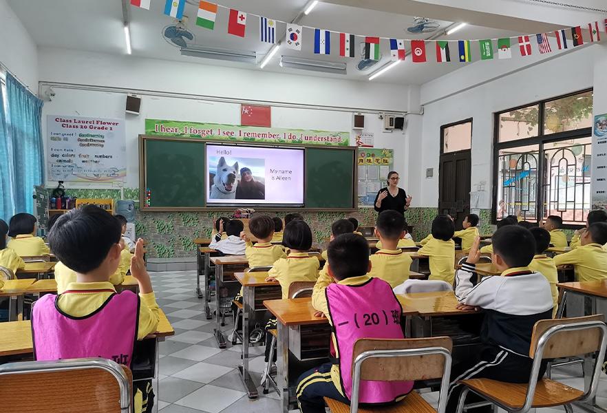 Aileen in class