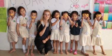 TEFL teacher with students